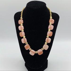 Kate Spade Pink/Peachy/Blush & Crystal Necklace